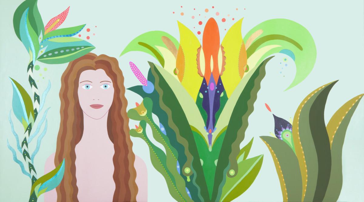 Fulvia Mendini, L'incantatrice, 2016, Acrilico Su Tela, 69×123 Cm