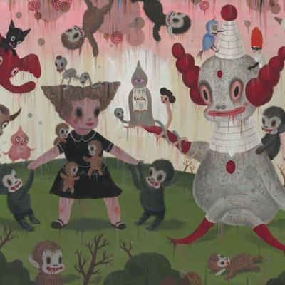 Gary Baseman, Birth Of The Domesticated, 2012, Acrylic On Canvas, 122 X 183 Cm