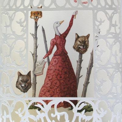 Vanni Cuoghi, Oca Mannara, 2013, Watercolor On Paper, 33x22 Cm