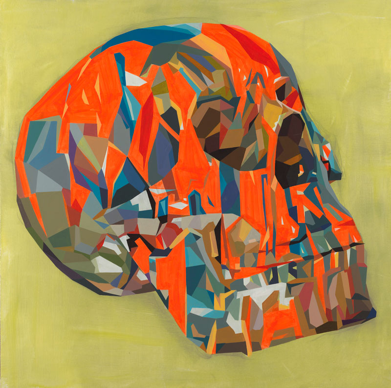 Tim Biskup, Doom Loop # 21, Cel Vinyl acrylic on canvas, 91 x 91 cm