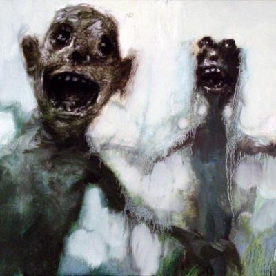 Urlini, 2006, Olio Su Tela, 35x50cm