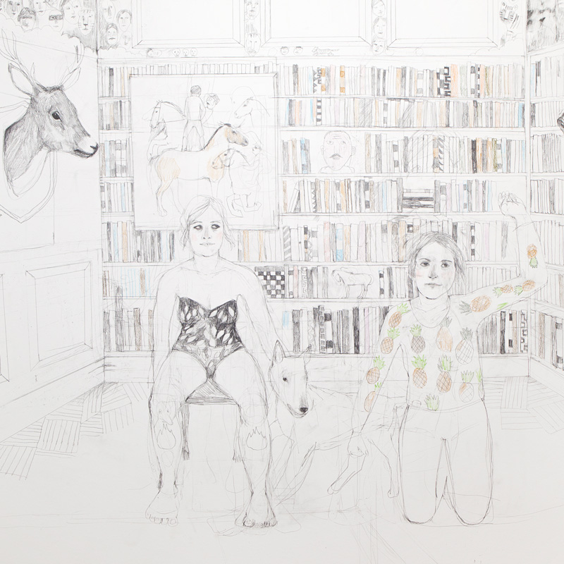 Erika Nordqvist, Havalina, 2016, Mixed Media On Paper, 150×120 Cm
