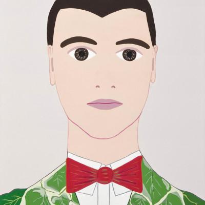 David Byrne, 2011, Acrilici Su Tavola Di Legno, 33x23 Cm