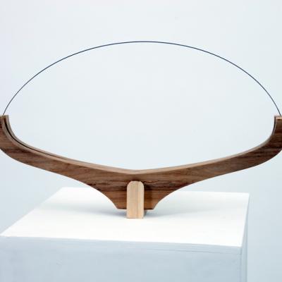Arco1, 2010, Legno, Acciaio-armonico, 45x26x5 Cm