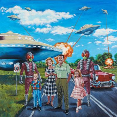 Stefano Zattera, Invasion, 2012, Oil On Canvas, 100x100 Cm