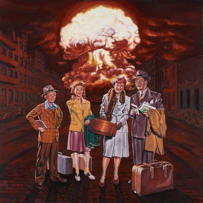 Stefano Zattera, Mushroom Travel, 2011, Oil On Canvas, 100x100 Cm