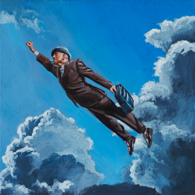 Stefano Zattera, Superburocrate, 2012, Oil On Canvas, 50x50 Cm