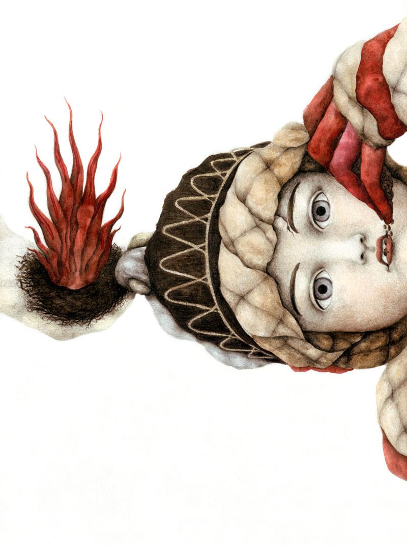 Cristina Pancini, Arresa All'evidente Scossa, 2011, Mixed Media On Paper, 34x24 Cm