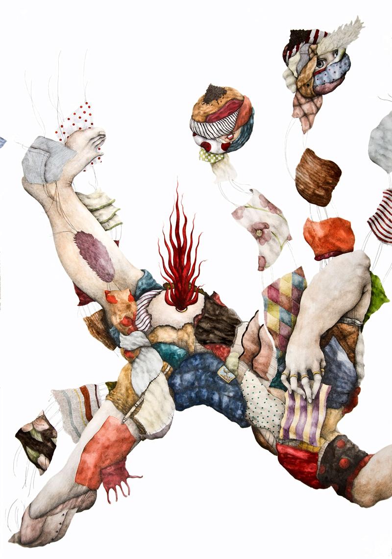 Cristina Pancini, Cambio D'abito, 2011, Mixed Media On Paper, 100x70 Cm