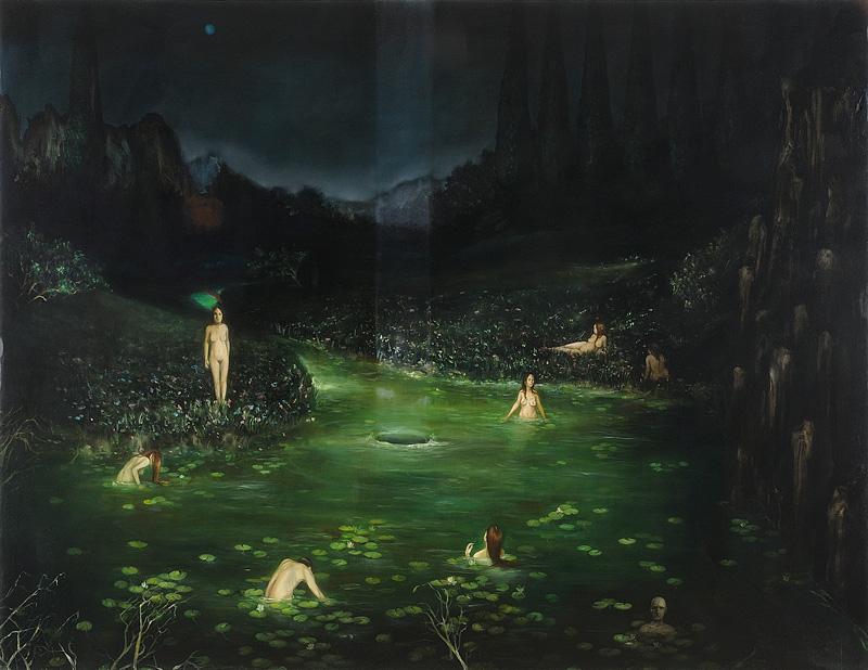 Giuliano Sale, Iyomante, 2011, Olio Su Tela, Cm 220×170