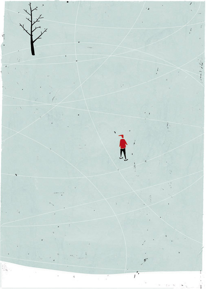 Shout, Ice, 2006, Digital Media, Handmade Textures, 30 X 37 Cm