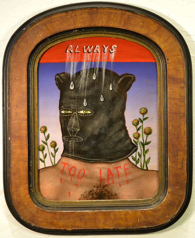 Fred Stonehouse, Always too late, 2014, acrylic on panel with antique frame, 42x33 cm
