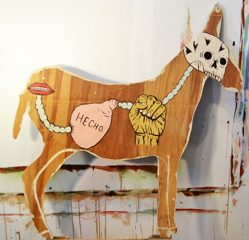 Fred Stonehouse, Hecho, 2014, acrylic on plywood, 99x94 cm