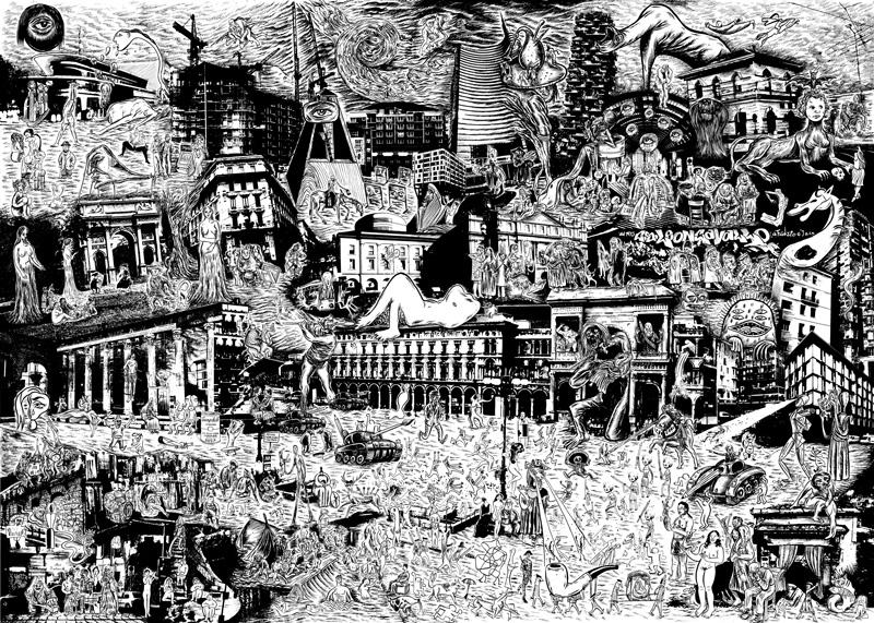 La famosa invasione degli artisti a milano antonio