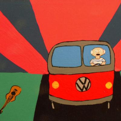Laboratorio Saccardi, Picasso L.s.d., 2004, Acrilico Su Tela, 18x24 Cm