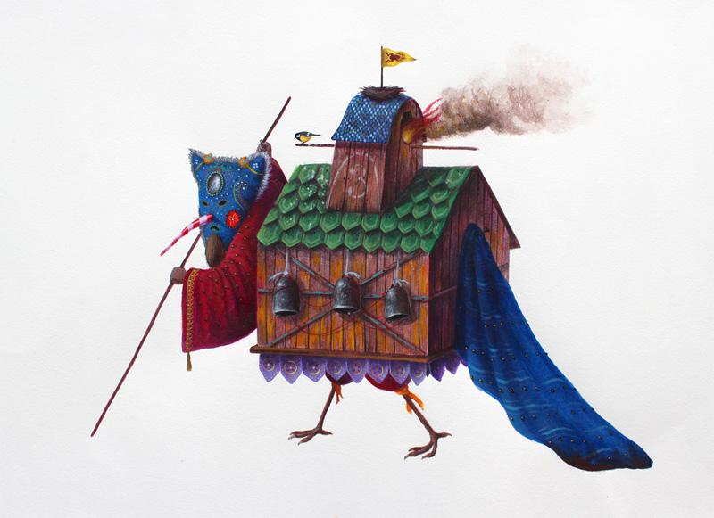 El Gato Chimney, Sempre Con Me, 2013, Acrylic On Cotton Paper, 50x35 Cm
