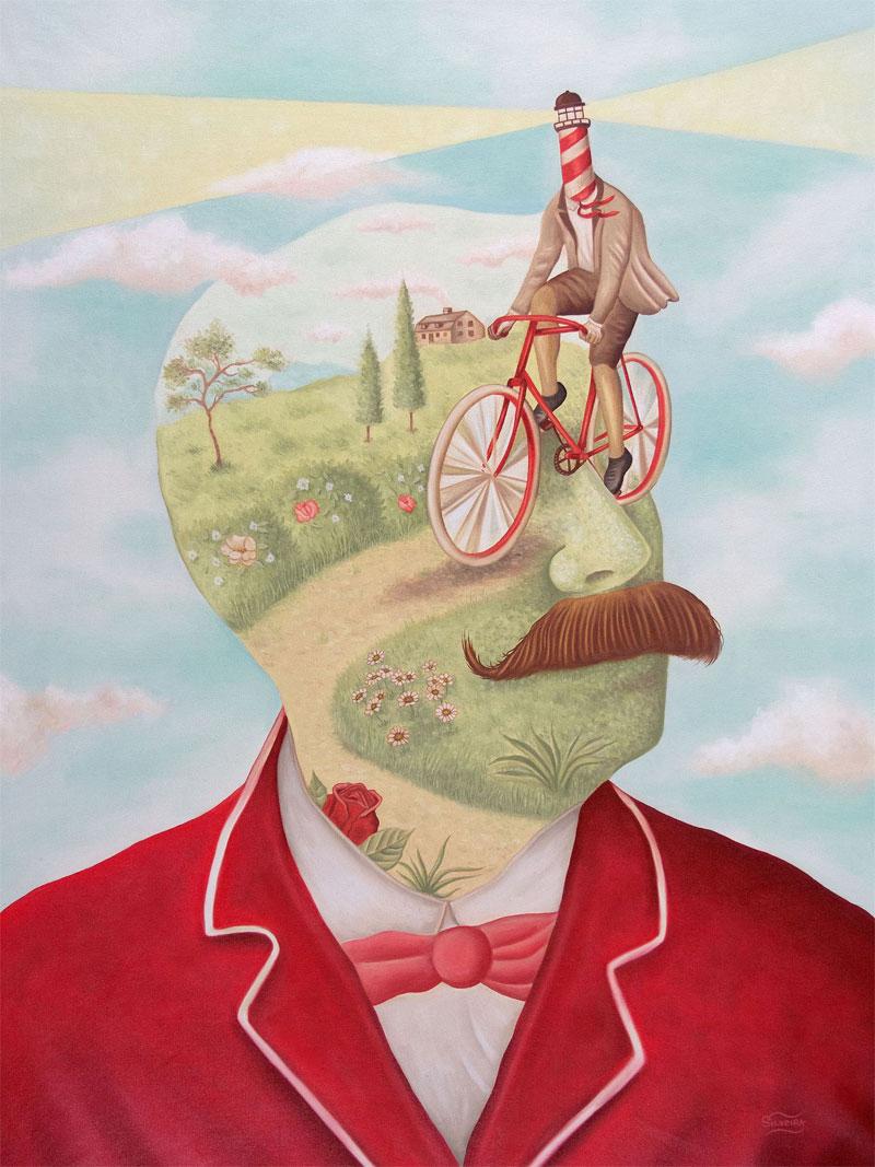 Rafael Silveira, Un Giro Nella Mente, 2015, Oil On Canvas, 80x60 Cm