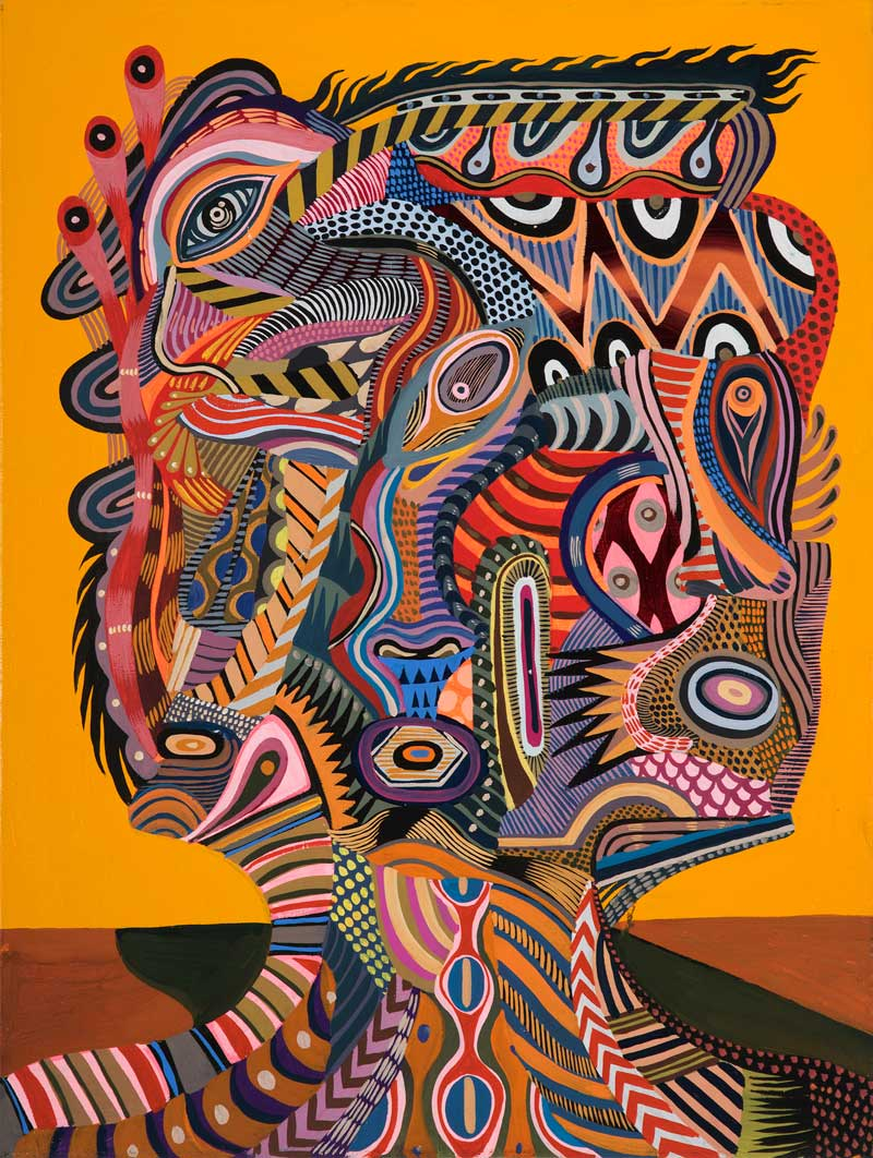 Zio Ziegler, The Aggregation God I, 2015, Acrylic On Canvas, 61x45,5 Cm