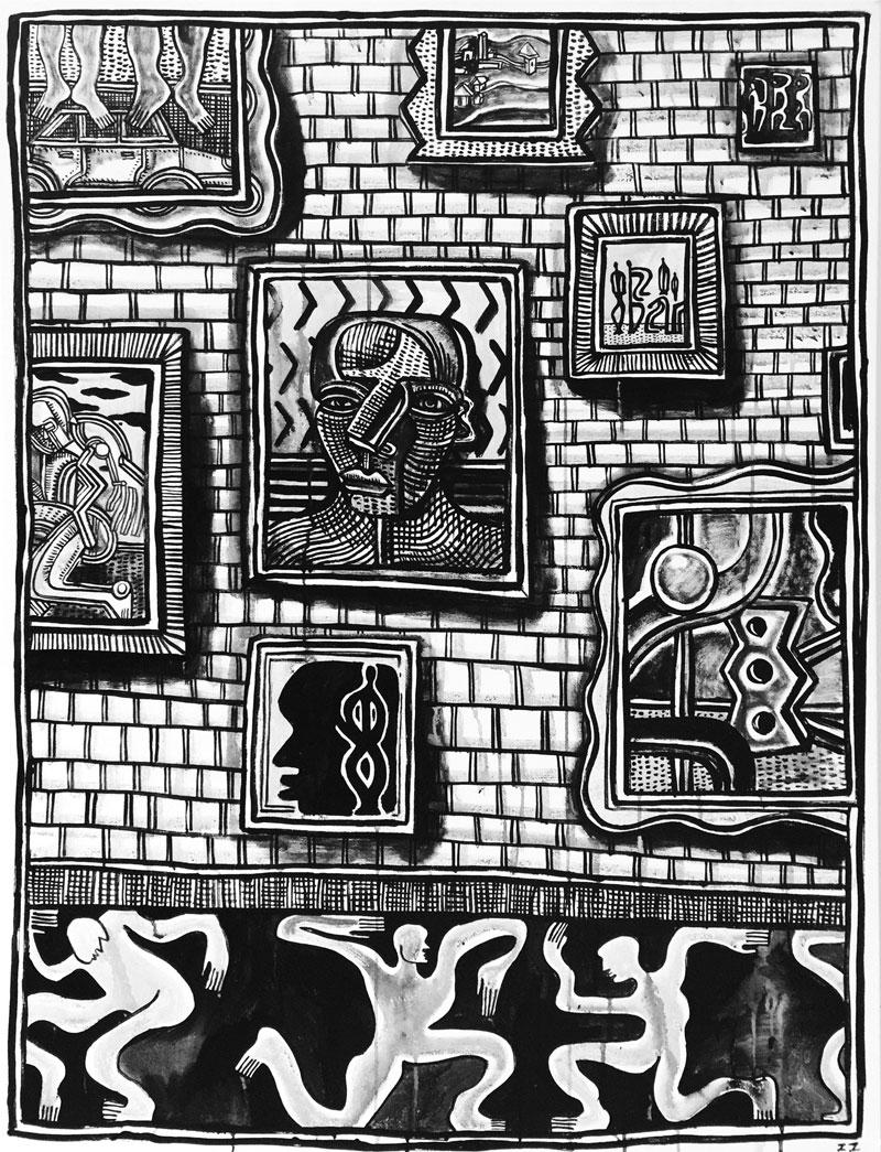 Zio Ziegler,The Weight Of Art History, 2015, Acrylic On Canvas, Cm 122x91