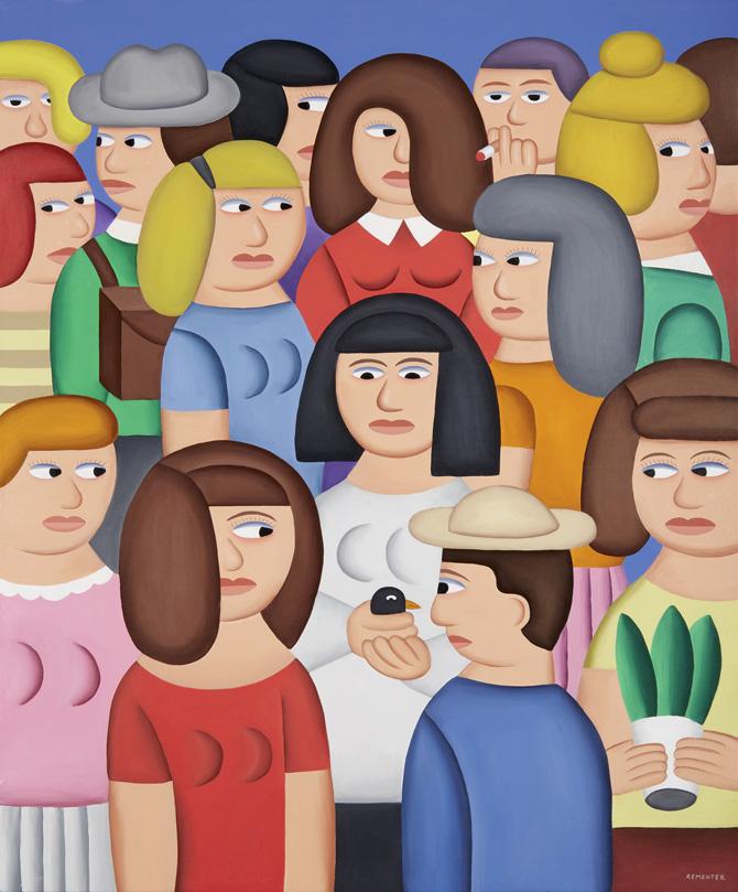 Andy Rementer, Repubblica, 2015, oil on canvas, 122x101 cm