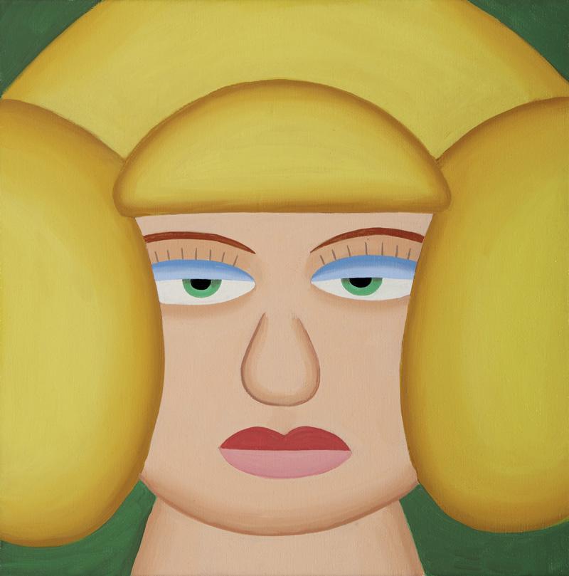Andy Rementer, Venere, 2015, oil on canvas, 30x30 cm