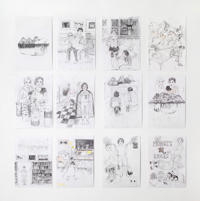 Erika Nordqvist, Untitled, 2015/2016, Pencil On Paper, 30x21 Cm, Each
