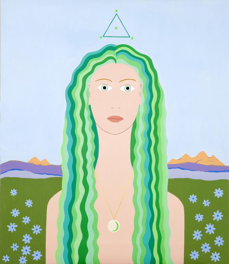 Fulvia Mendini, Proserpina, 2009, acrylic on board, 69x60 cm