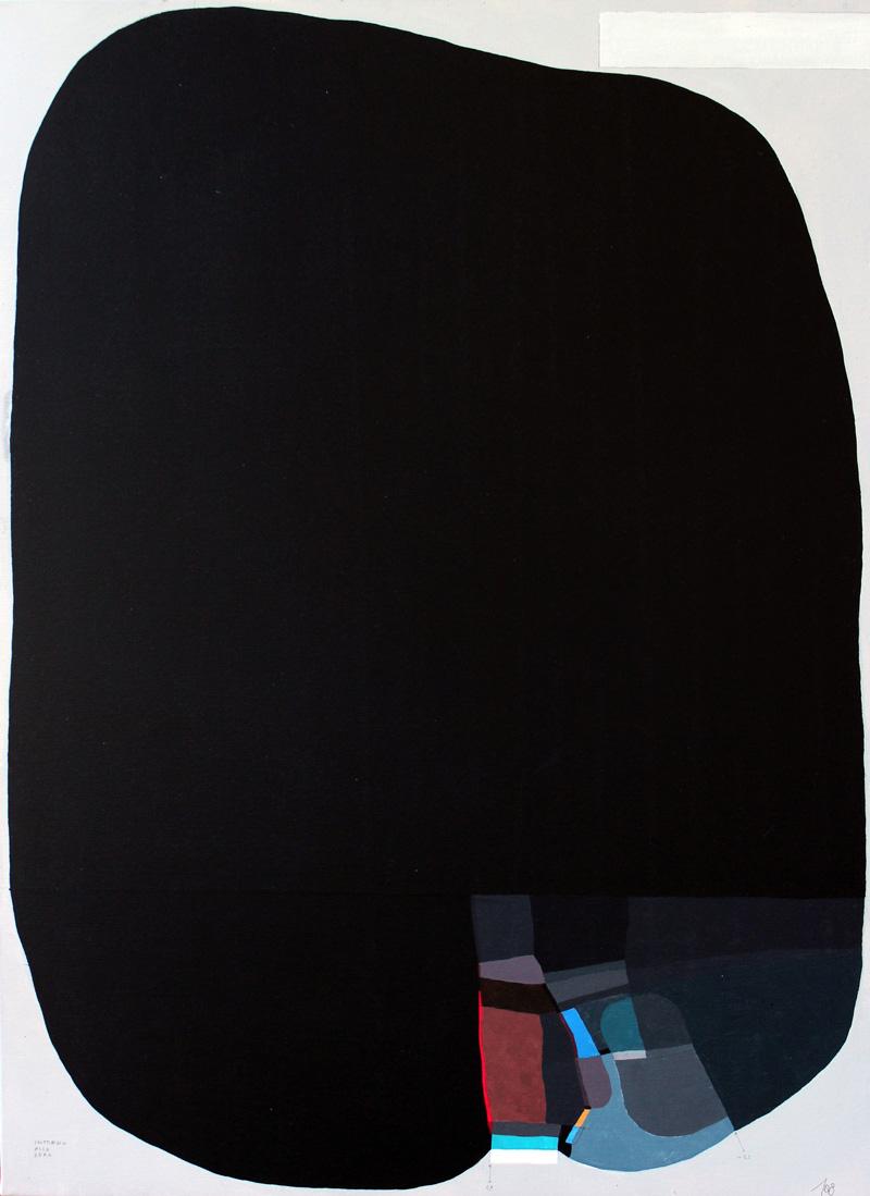 108, Il Disturbo Del Nero 1, 2016, Mixed Media On Canvas, 50×70 Cm
