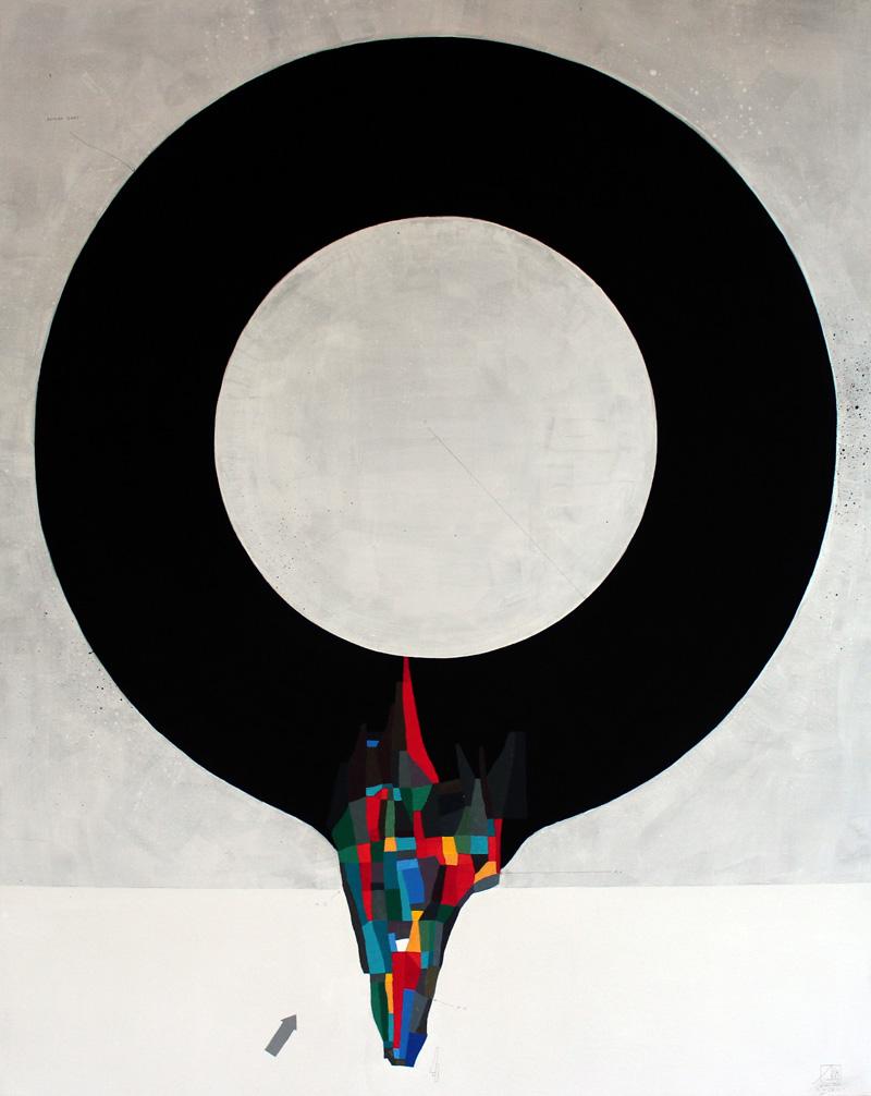 108, Zero, 2016, mixed media on canvas, 80x100 cm