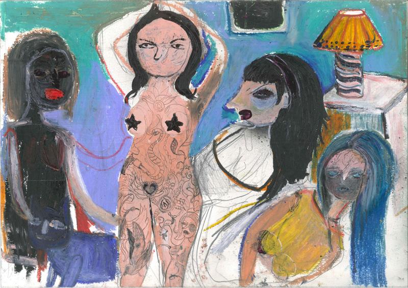 Silvia Argiolas, Stanze, 2016, Mixed Media On Paper, 42×30 Cm