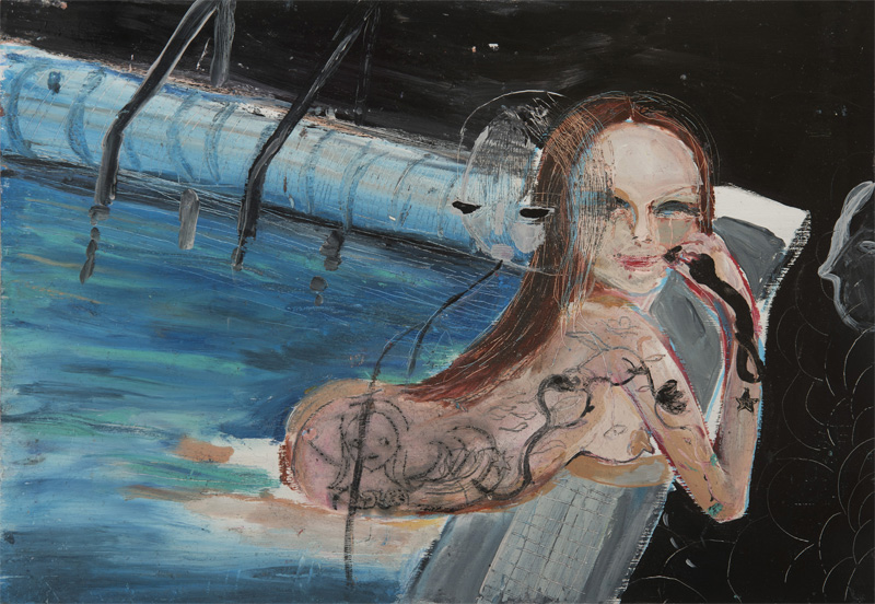 Silvia Argiolas, Lipstick, 2016, Mixed Media On Board, 32×22,5 Cm