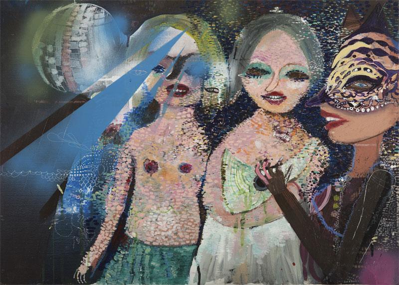 Silvia Argiolas, Untitled, 2016, Mixed Media On Canvas, 70×50 Cm