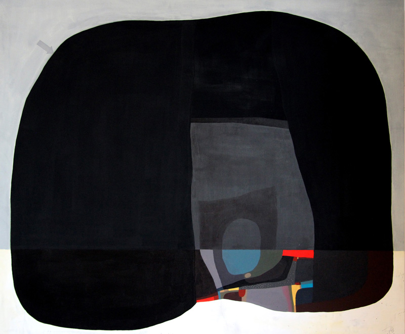 108, Forma 1, 2015, acrylic and pencil on canvas, 120×100 cm