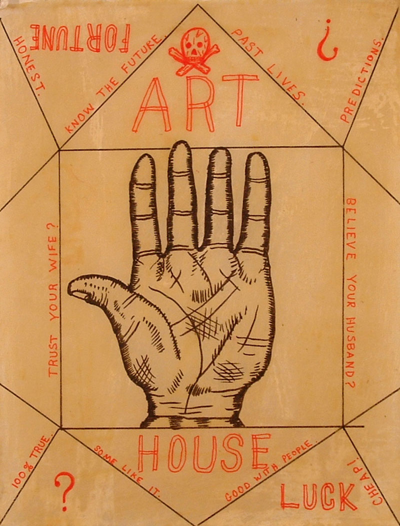 Fred Stonehouse, Art House, 2008, ink and wax on Japanese paper, 28×22 cm