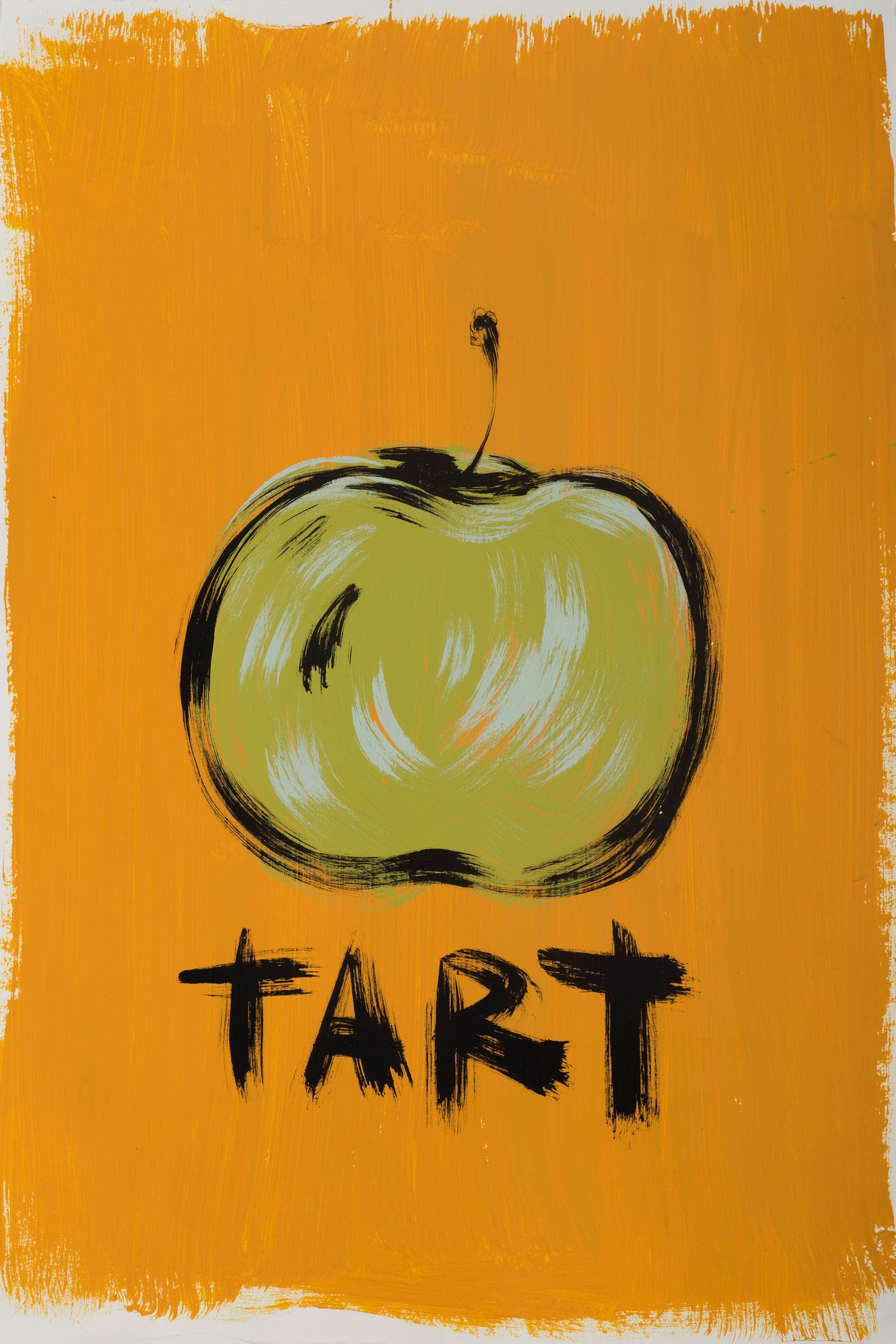 Russ Pope, Tart, 2016, acrylic on paper, 67,5x45 cm