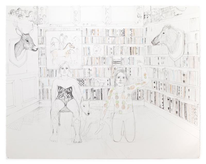 Erika Nordqvist, Havalina, 2016, Mixed Media On Paper, 150×120 Cm
