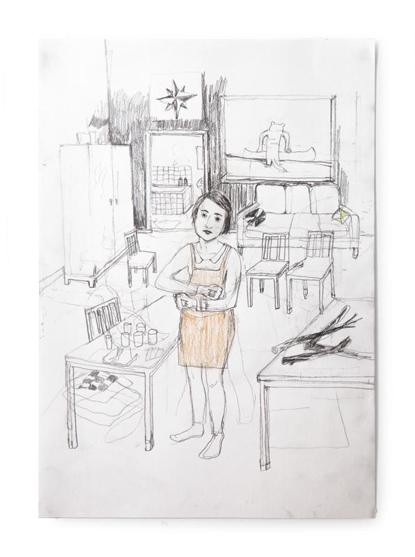 Erika Nordqvist, Untitled, 2016, mixed media on paper, 30×21 cm