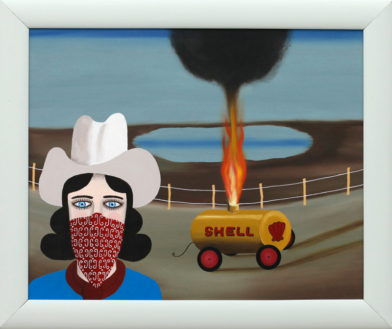 Richard Johansson, Outlaw girl, 2016. oil on panel, 62×52 cm