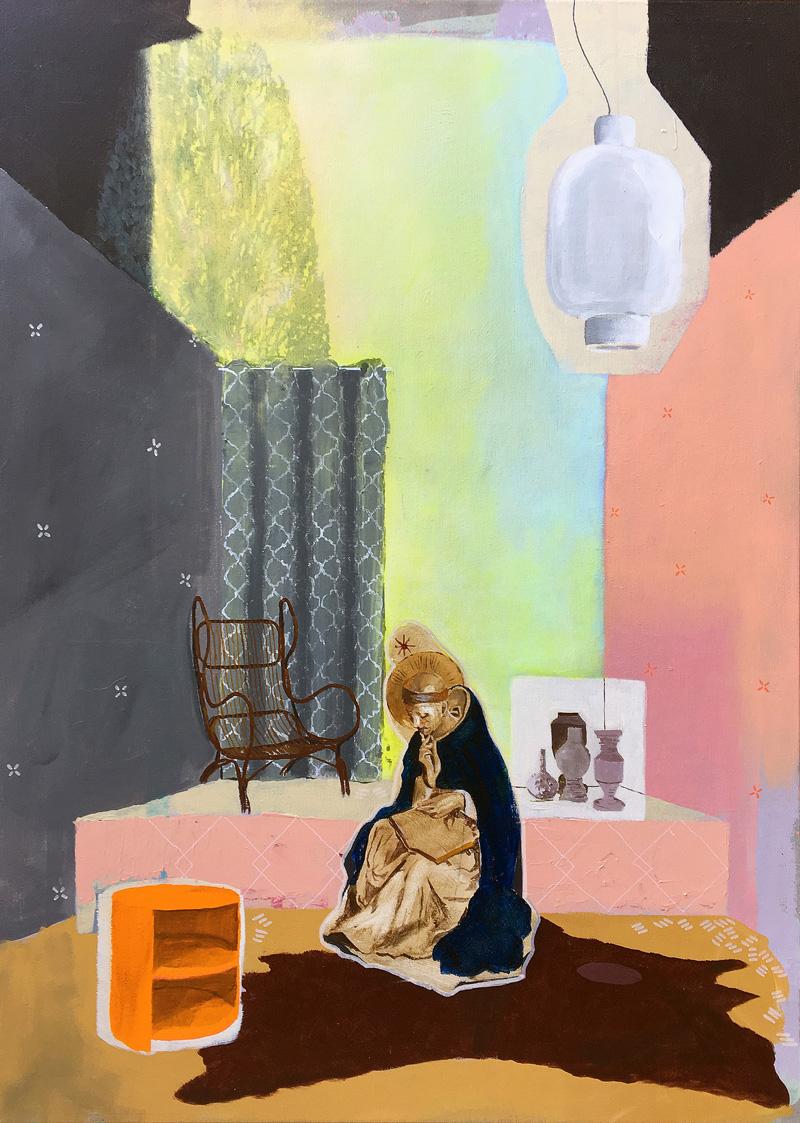 Paolo De Biasi, Del niente a che vedere, 2017, acrylic on canvas, 70×50 cm