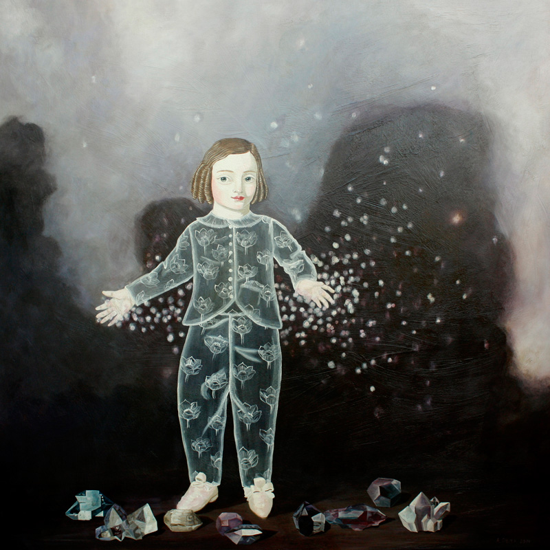 Anne Siems, Stardust, 2014, acrylic on board, 122×122 cm