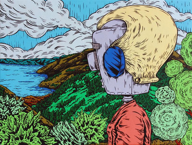 Dast, Riempirsi di gioia, acrylic on canvas, 40×30 cm