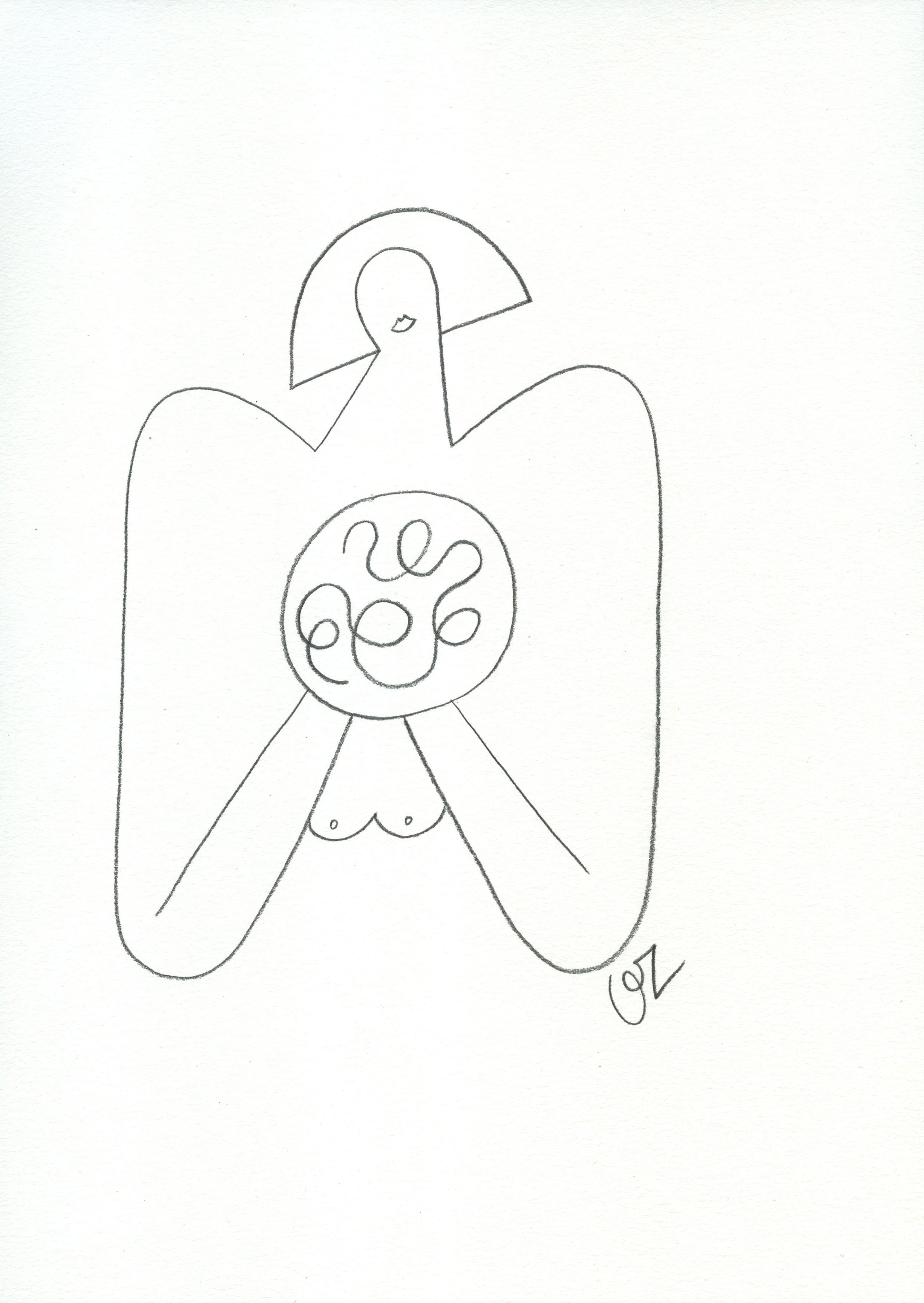 Olimpia Zagnoli, How to eat spaghetti like a lady3, 2017, pencil on paper, 29×21 cm
