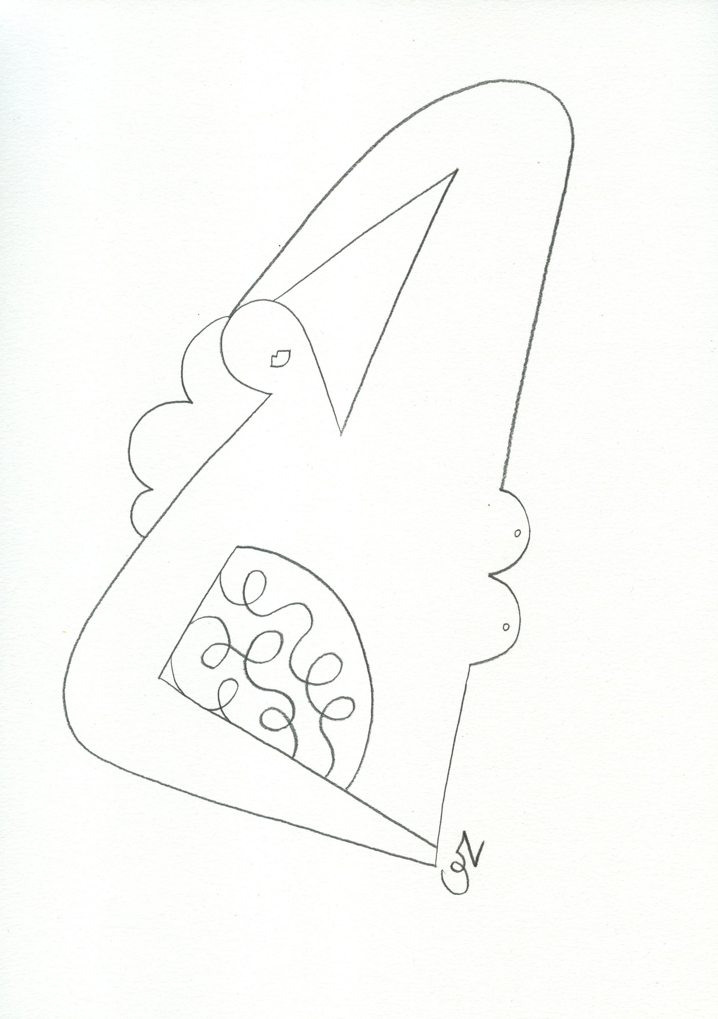 Olimpia Zagnoli, How to eat spaghetti like a lady4, 2017, pencil on paper, 29×21 cm