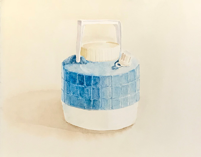 Joshua-Huyser,-cooler-jug,-watercolor-on-paper,-23cm-x-29cm,-2015