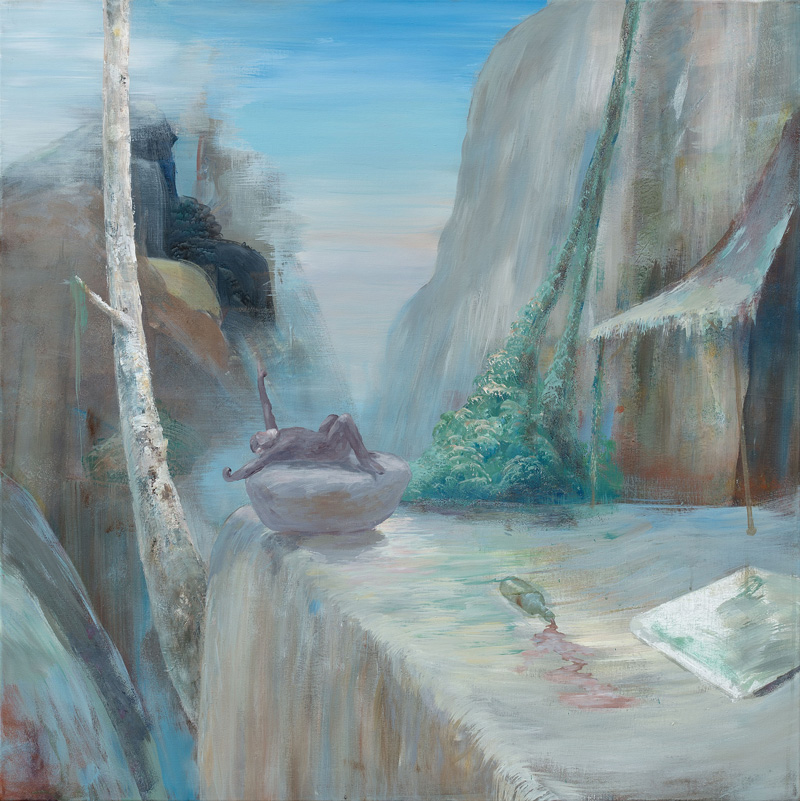 Peter Busch, Schlucht, 2016, acrylic on canvas, 100x100cm
