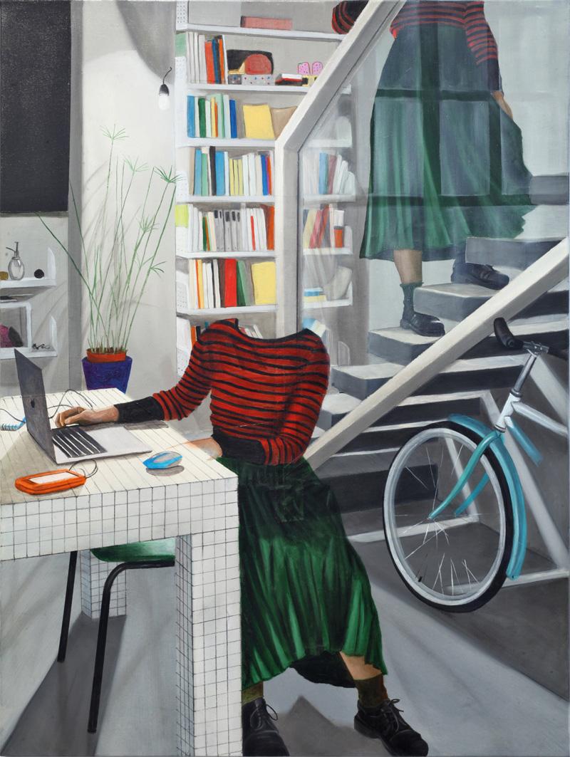 Dario Maglionico, Reificazione #39, 2017, oil on canvas, 60×45 cm