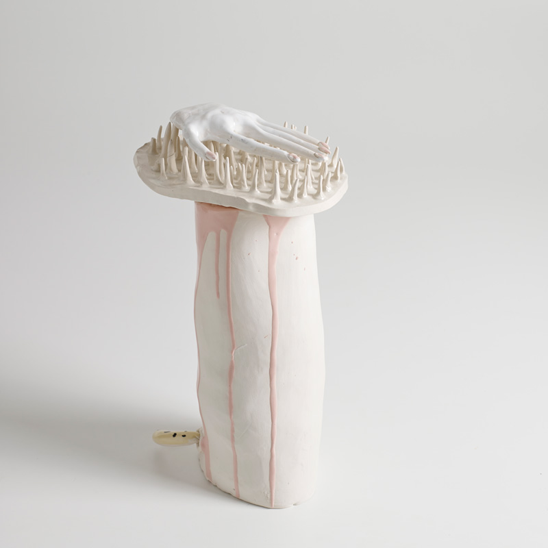 Lusesita, Tentacion, 2018, ceramic and enamel, 40x20x13 cm