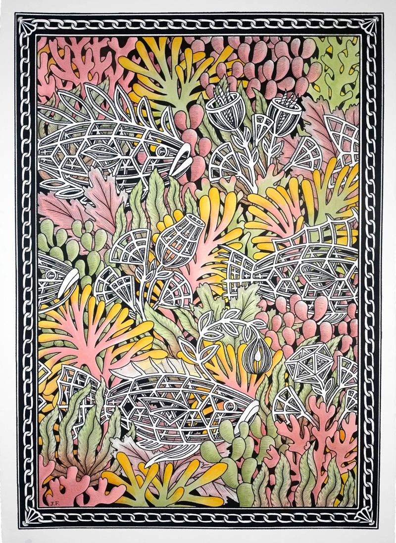 Jayde-Fish,-Never-break-the-chain,-2018,-ink-on-paper,–104×75-cm