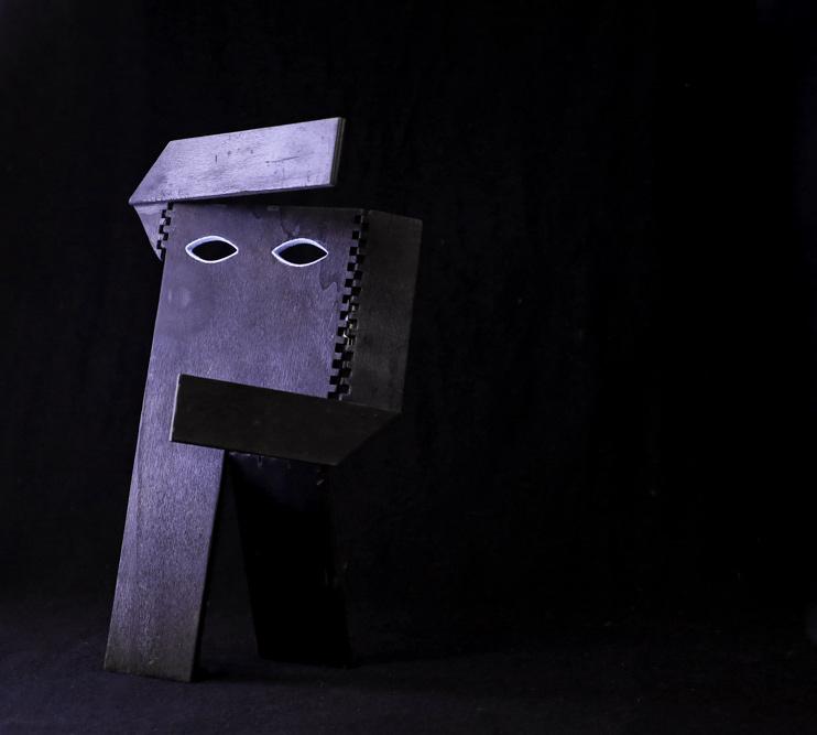 Daniela Puppa, Flat-Man, wood, 2x20x34 cm, edition of 6