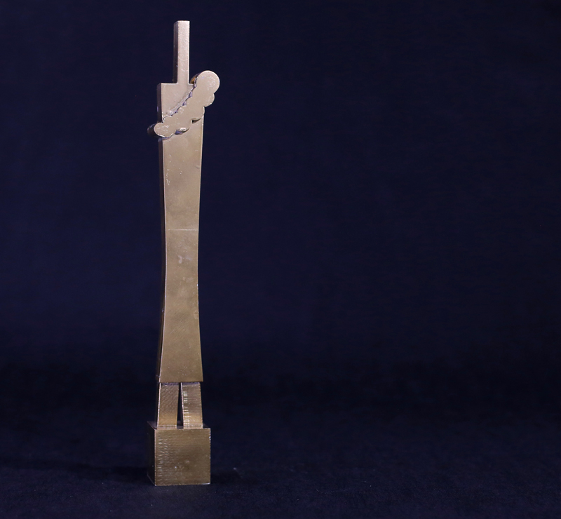 Flavio Lucchini, Dress Totem, pla, 6x6x36 cm, edition of 6